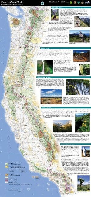 NPS Pacific Crest Trail Map