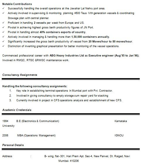 Project Management Resume Template Project Manager Resume