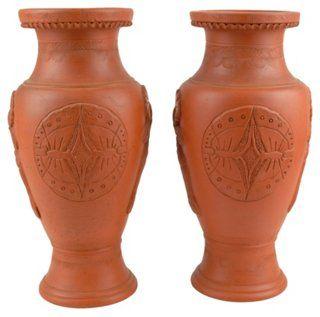 Japanese Tokoname Vases, Pair