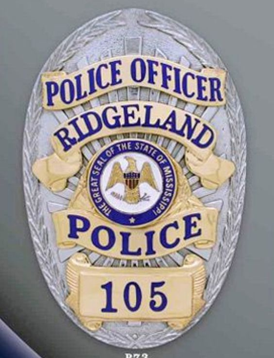 Us State Of Mississippi City Of Ridgeland Police Department Badge Police Badge Police Badge