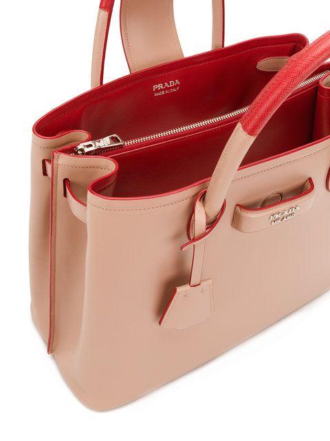Prada Bolso Tote Paradigme Farfetch | Bolso shopper