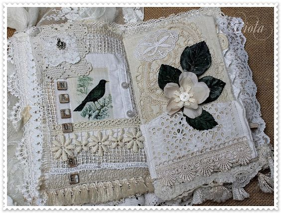 fabric and lace book