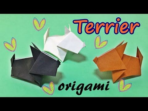 Easy But Cool Origami Dog For Kids How To Make A Paper Terrier