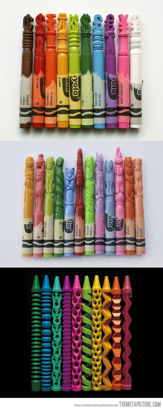 Carved Crayons Auf themetapicture.com http://www.pinterest.com/indigo2162/art-%C3%A9cole/