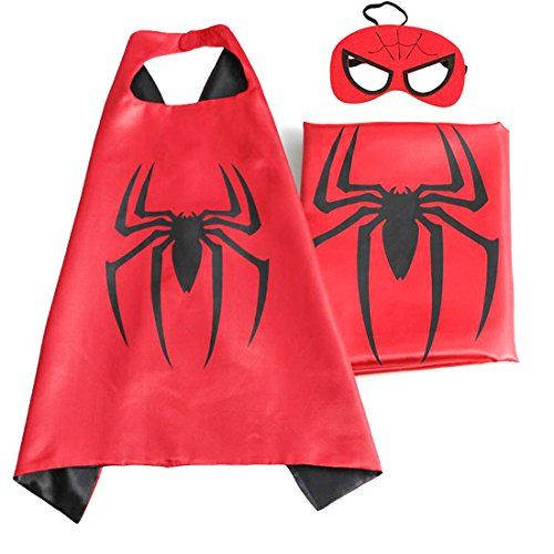 (Spiderman) ROXX Superhero Superman Kids Girl And Boy Cape and Mask Costume for Child - http://our-shopping-store.com