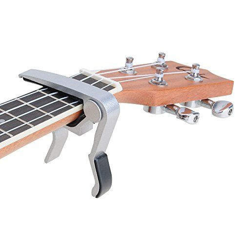 Guitar Capo Singlehanded Quick Change For Acoustic Electric Classical Guitar Silver You Can Get Additional Details At Th Guitar Capo Classical Guitar Guitar