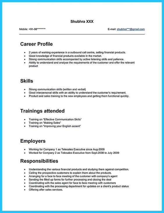 sample of call center resume - zrom