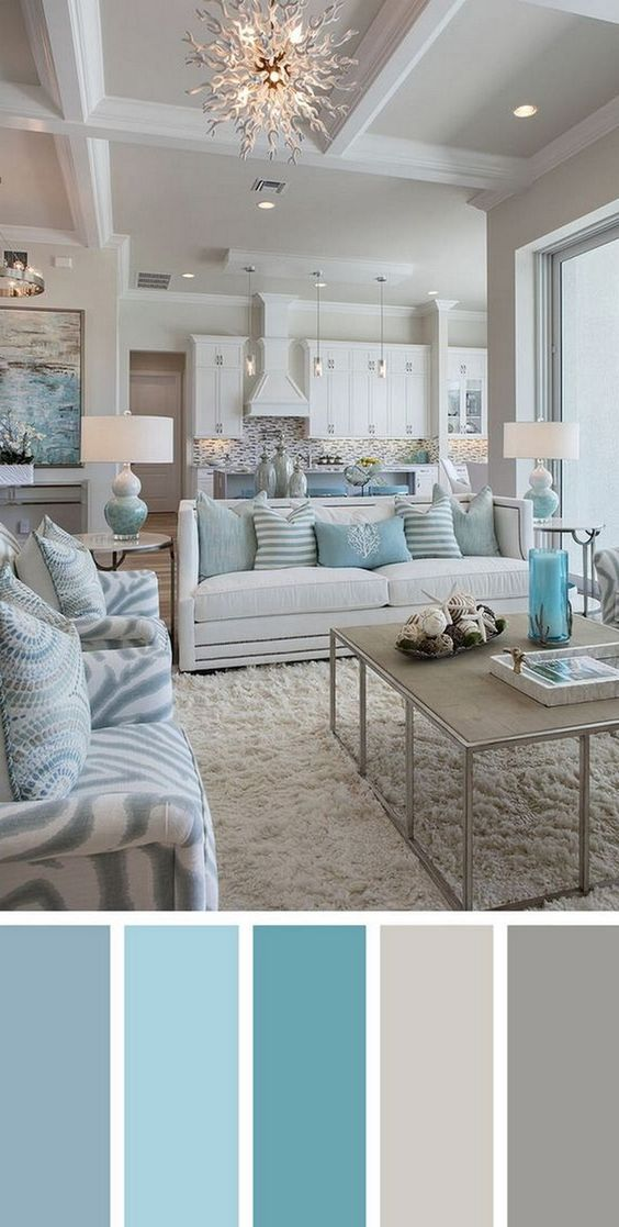 100 Creativity Chic Turquoise Modern Living Room
