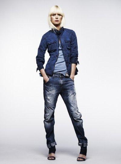 denim code... | jeans shirt | double denim | jeans | hot | blonde | casual urban look | fashion editorial |