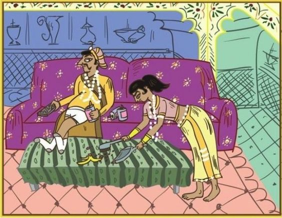 The Married Kama Sutra: a Humorous Guide to the Positions of Married Life, http://itcolossal.com/married-kama-sutra/