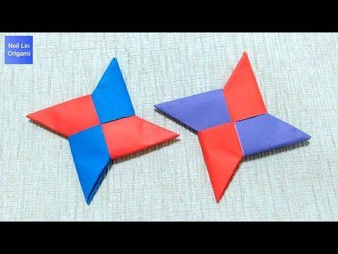 How to Make a Paper Ninja Star (Shuriken) - Origami - YouTube | 360x480