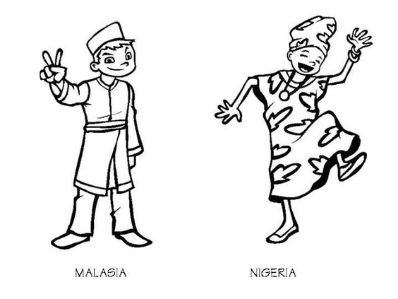 Malaysia Coloring Book Pages Top 20