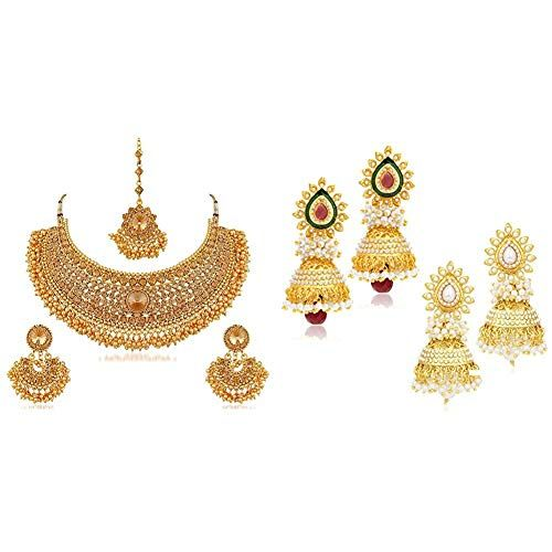 Sukkhi Fashion Jewellery For Women Golden N72392adht112 Amazon Great Indian Sale 2018 Amazon Great Indian Sale Indian Festivals Fashion Jewelry Fashion