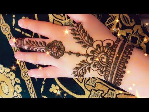 نقش الخطفة تعليم النقش بالحناء نقش حناء بالإبرة سهل و بسيط Youtube Mehndi Designs Henna Designs Hand Henna