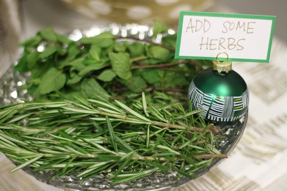 Dress up your drink with an #herbgarnish