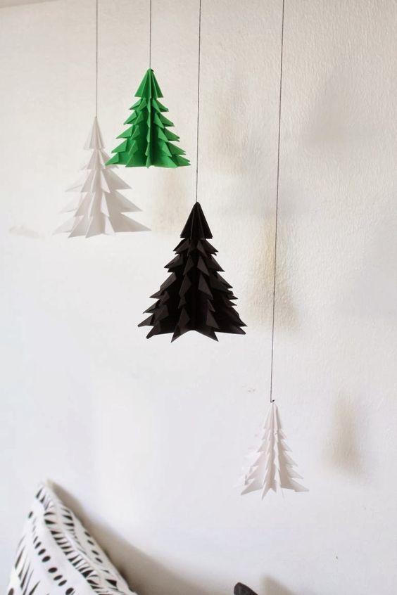 Tree origami mobile diy meisterdamine pinterest arbres de no l no l et tutoriels - Arbre de noel origami ...