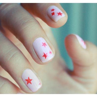 stars nail art