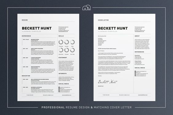 Resume CV \ Cover Letter- Professional- Clean - Eye catching- Easy - eye catching resumes