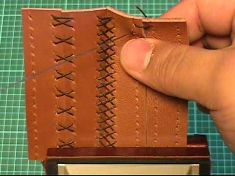 【初心者でも簡単♪】レザークラフト動画014:『革の縫い方っ!7』 - YouTube