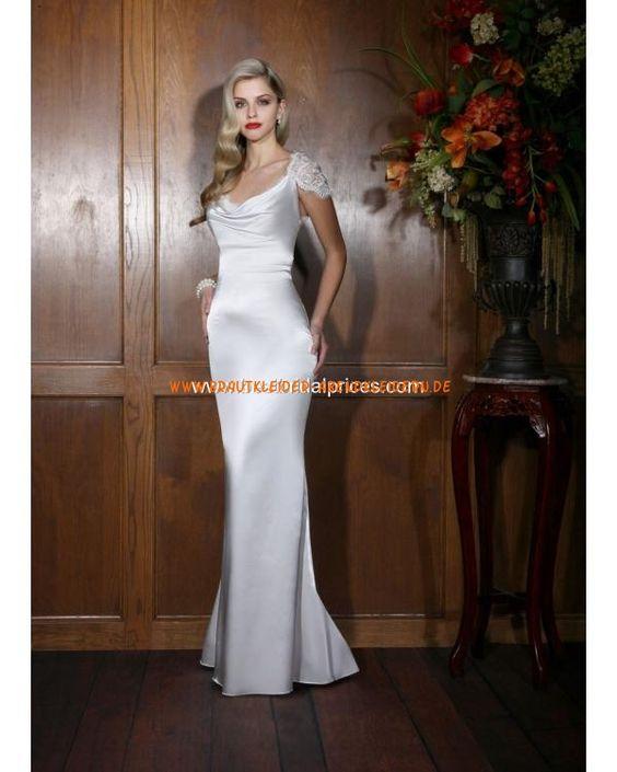 Modische sexy Brautmoden im Meerjungfrauenstil aus Stretchsatin bodenlang 2013