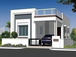 Image Result For Elevations Of Independent Houses Interiorelevation Single Floor House Design Independent House Duplex House Design
