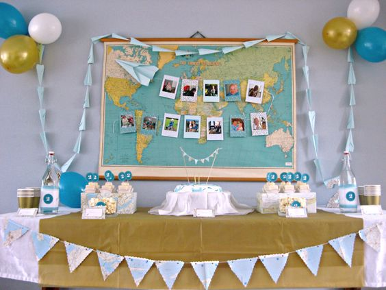 """Time Flies"" Airplane Theme Party - #partyidea"