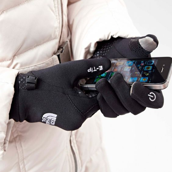 """a much better looking alternative to """"Magic Gloves"""" Touchscreen gloves by """"E-Tip-Glove"""" by The Northface"""