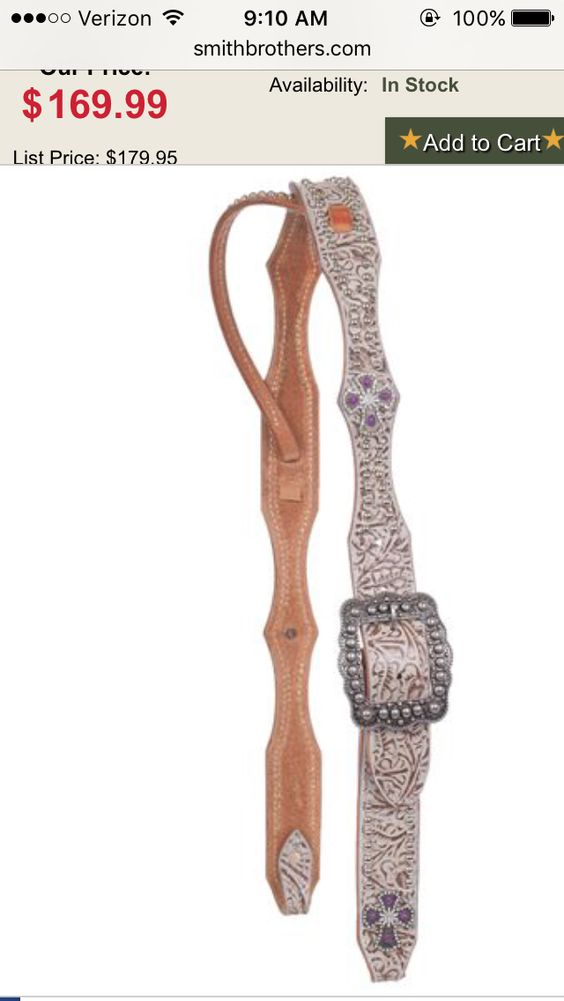Third choice only because there's no matching breastcollar San Saba Equine Belt Headstall