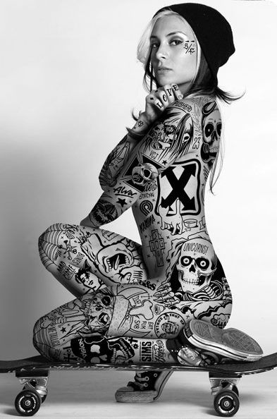 Nice tattoo. Skate style