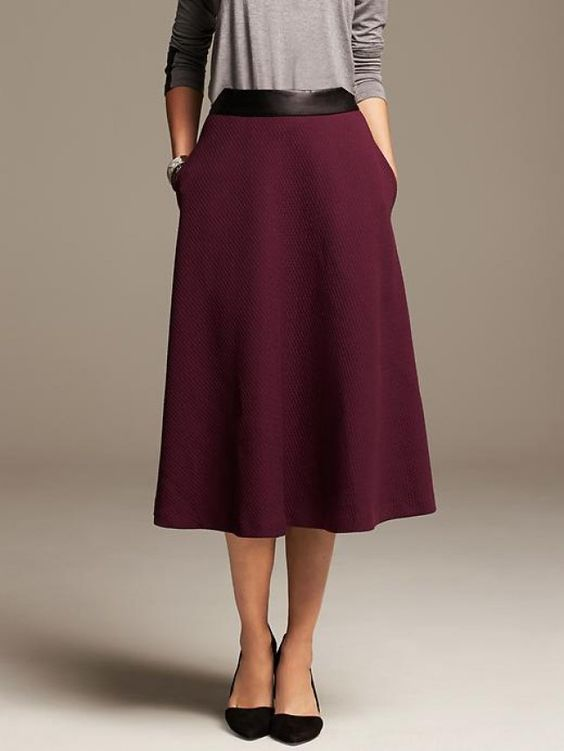 19 ways to wear midi skirts this season wool skirts and