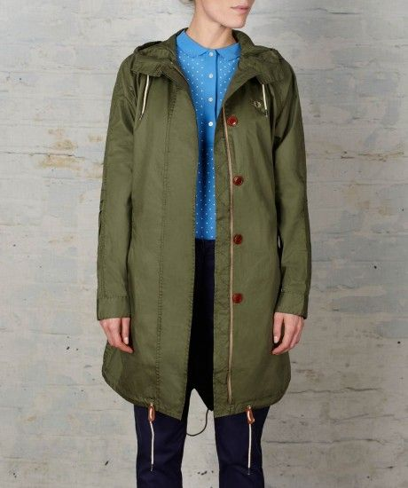 Fred Perry - Oversized Fishtail Parka | Threads - The Female of