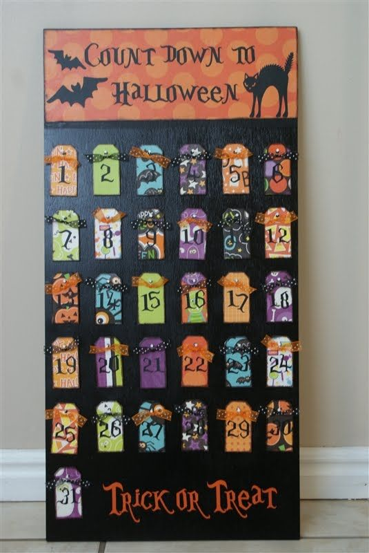 """Cute halloween idea, plus the link takes you to an amazing website called """"the idea room."""" love!"""