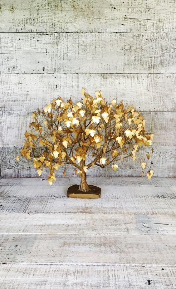 Brass Tree Large Mid Century Dream Tree Je Tramel Gold