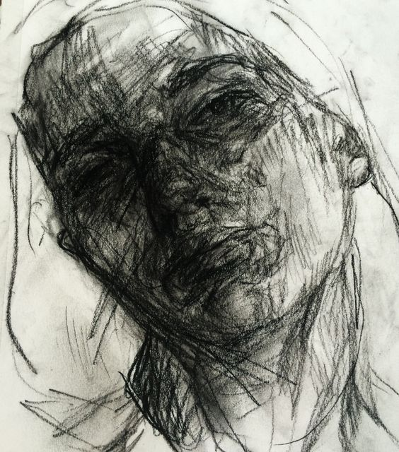 Charcoal self portrait