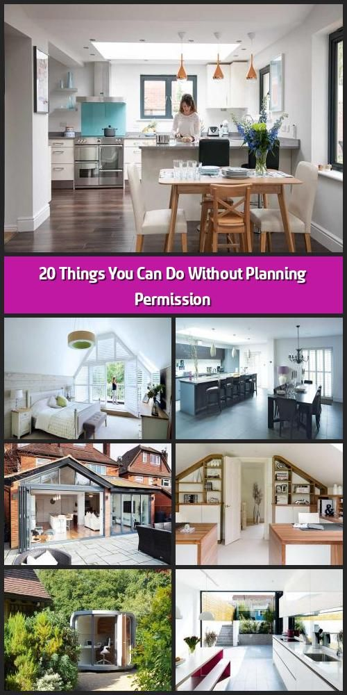 20 Things You Can Do Without Planning Permission There Are Many Home Improvements You Can Make To Your Home Without Needing To Planning Permission Planning Applications How To Plan