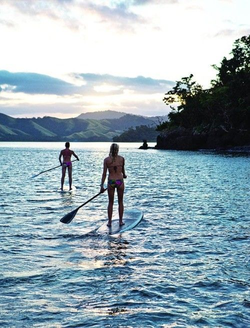 Paddle boarding in serenity