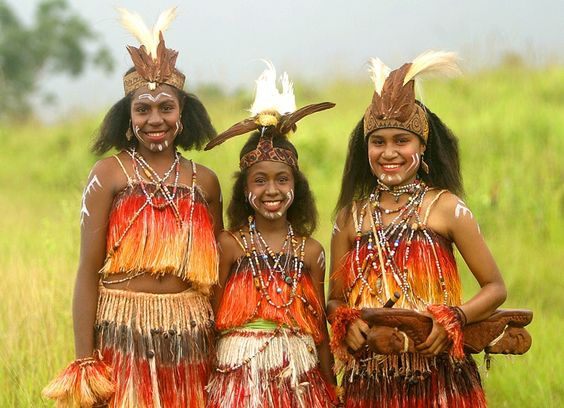 sentani girls papua irian jaya indonesian cultures