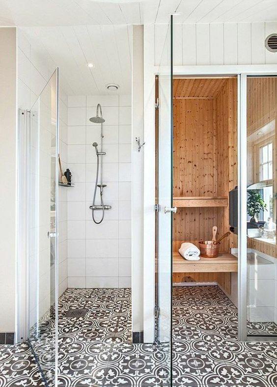 siphon douche italienne salle de bain avec douche italienne avec sol en mosaique et mur - Salle De Bain Mosaique Douche Italienne