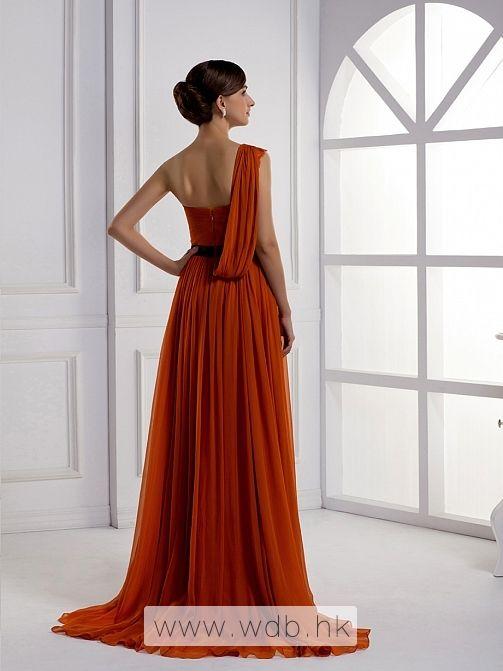 One+Shoulder+A-line+silk+chiffon+bridesmaid+dress+(for+Erica+Leahy+wedding+party)