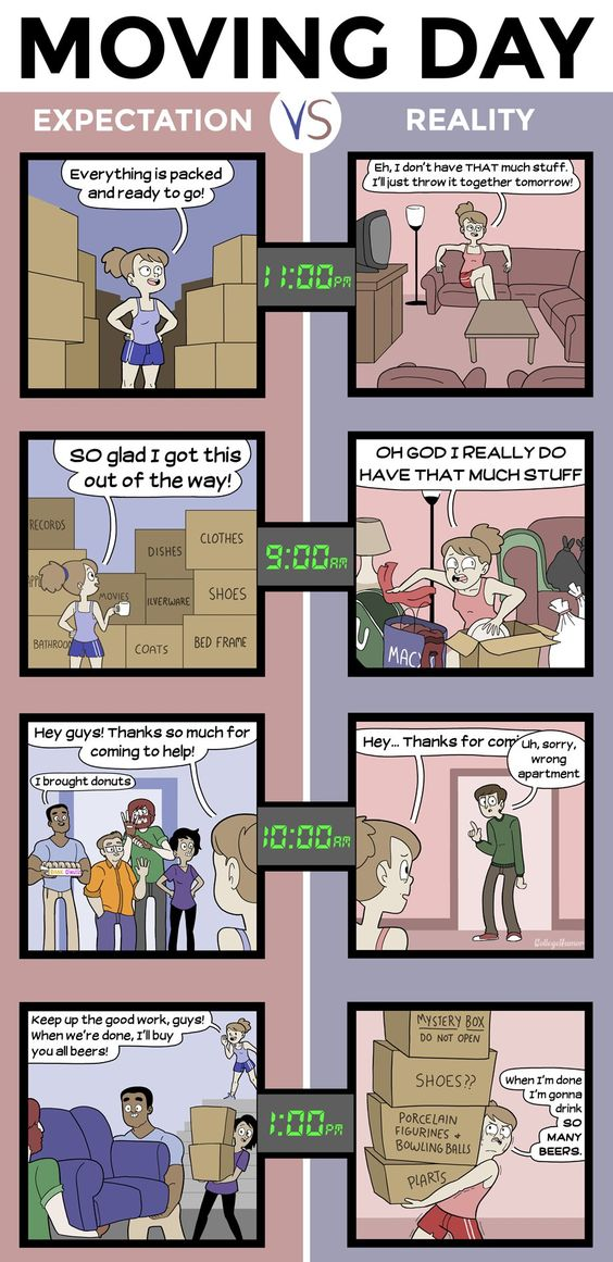 Moving to a new place: the easiest way to realize that you have no real friends.