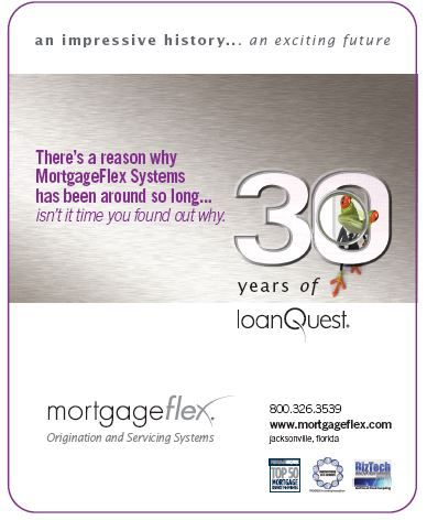 Mortgage Executive Magazine Ad - MortgageFlex celebrates 30 years! an impressive history...an exciting future
