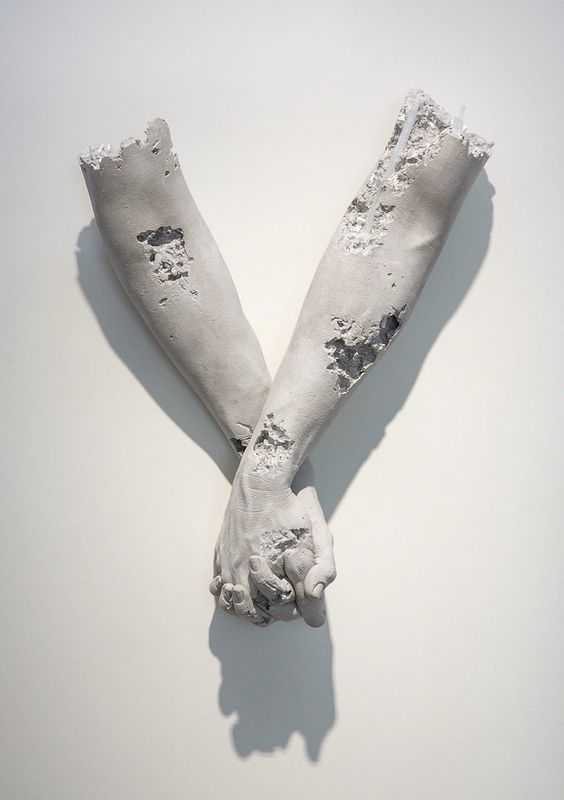 """Isolated Human Gestures by Daniel Arsham From the exhibition """"Fictional Archeology"""" at Galerie Perrotin Hong Kong , 2015"""
