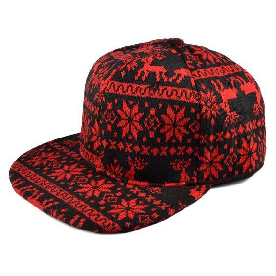 Rød Caveman Snapback Cap - 289,00kr