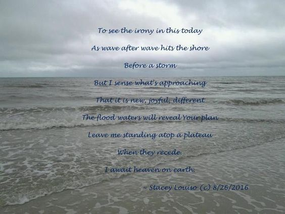 """From the Cafe blog ..   """"The flood waters will reveal Your plan .."""" @writingdownlife   Catch Stacey and """"God Calms the Waves"""" at the LifeLetter Cafe"""