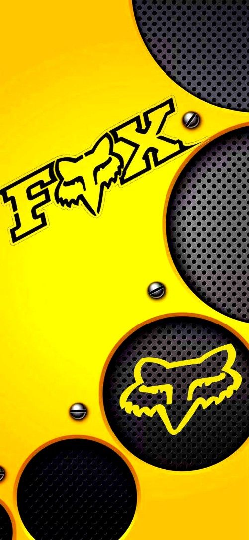 yellow fox racing wallpaper | logo de fox, fondos de pantalla de ios 7,  fondo de pantalla de aplicaciones  pinterest