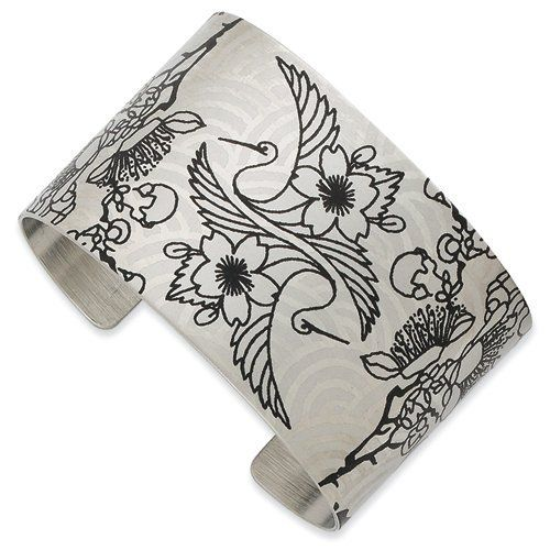 Stainless Steel Birds of Heion Brushed Cuff Bangle Jewelry Adviser Bangle Bracelets. $48.94
