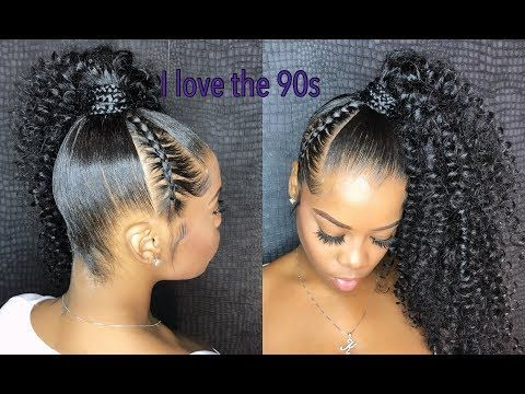 How To Do Cute 90s Style Side Ponytail Video Black Hair Information Side Ponytail Hairstyles Ponytail Hairstyles Braided Hairstyles