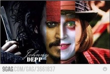 @Gina Rizzo...Just Johnny Depp being Johnny Depp ;)
