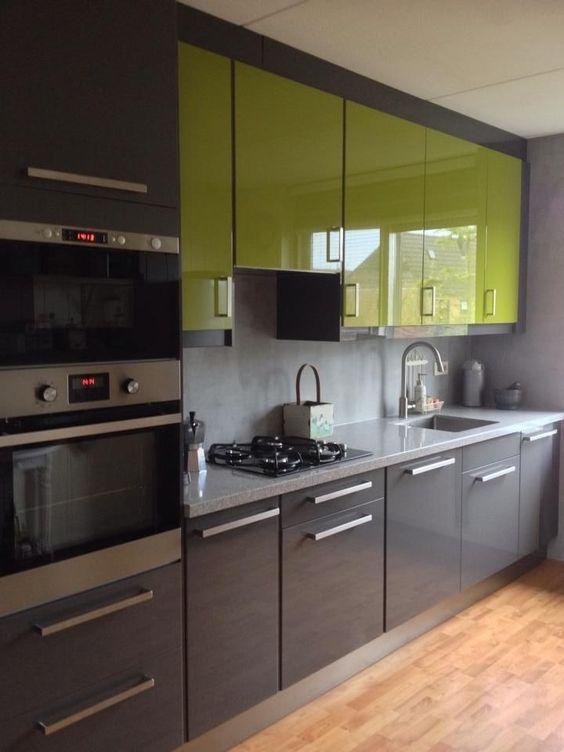 Cocinas Combinadas En Dos Colores Como Podemos Combinar Los Colores Para La Co Diseno De Cocina Diseno Cocinas Modernas Muebles De Cocina