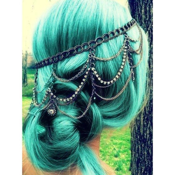 27 Stunning Shades Of Blue Hair ❤ liked on Polyvore featuring hair and hair styles